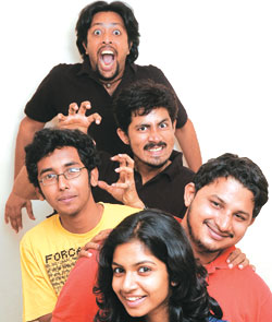 Sunil Vishnu K. (Top) & Karthik Kumar (Second from top) Co-founders of evam entertainment, a Chennai-based company which